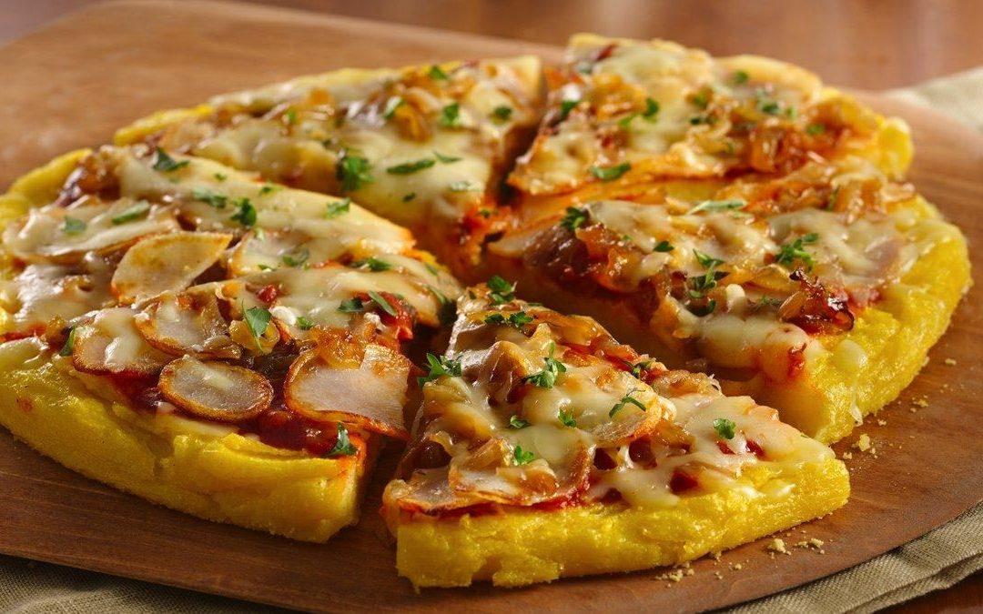 Pizza-palenta sa pečurkama, paprikom i sirom